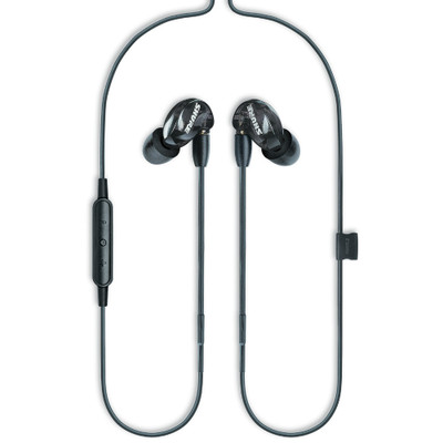 Shure SE215 Single Microdriver Sound Isolating Earphones With Universal Cable (Black)
