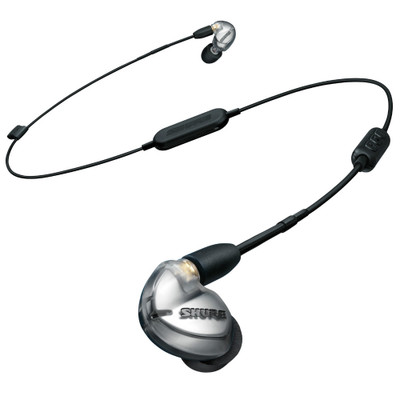 Shure SE425 Dual Microdrivers Earphones With RMCE-BT2 Bluetooth Cable (Silver)