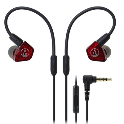 Audio-Technica ATH-LS200iS Dual Armature Driver In-Ear Headphones With In-line Mic & Control