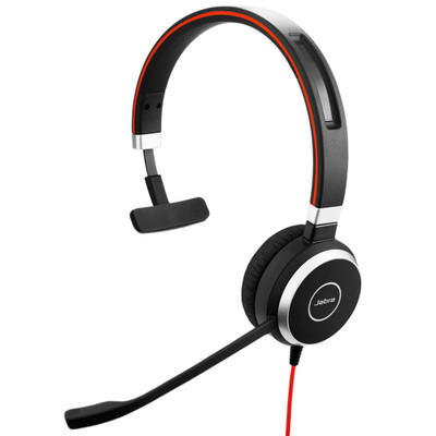 Jabra Evolve 40 MS Mono USB-A Office Headset With 3.5mm Audio Jack