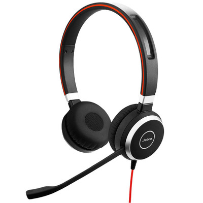 Jabra Evolve 40 MS Stereo Office Headset, USB-C, 3.5mm
