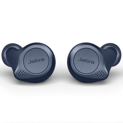Jabra Elite Active 75t True Wireless Earbuds With Active Noise Cancellation (Navy)