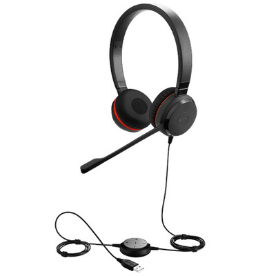 Jabra Evolve 30 UC Stereo Office Headset, USB-A, 3.5mm