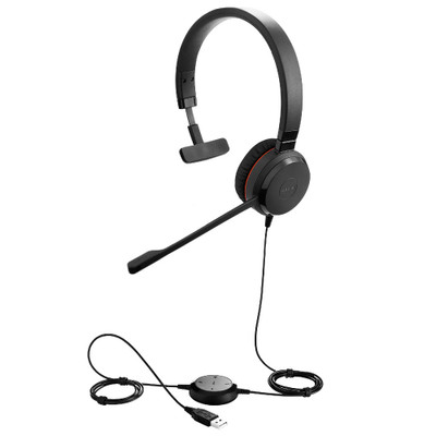 Jabra Evolve 30 MS Mono Office Headset, USB-A, 3.5mm
