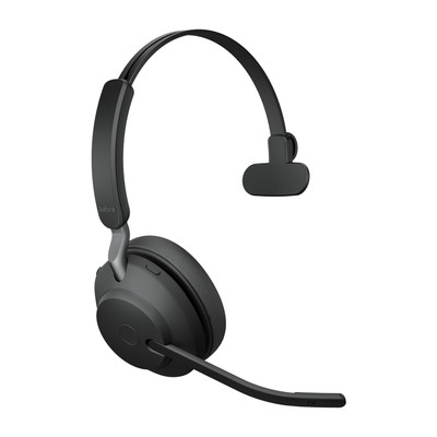 Jabra Evolve2 65 MS Mono Headset With Link 380 USB-C Wireless Adapter (Black)