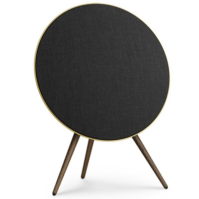 Bang & Olufsen Beoplay A9 4th Generation Wireless Speaker System With Voice Assistant (Brass Tone / Smoked Oak Legs)