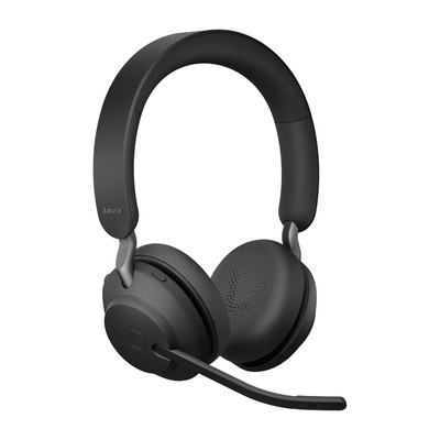 Jabra Evolve2 65 UC Stereo Headset With Link 380 USB-A Wireless Adapter (Black)