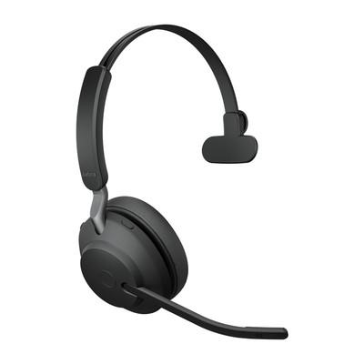 Jabra Evolve2 65 UC Mono Headset With Link 380 USB-C Wireless Adapter (Black)