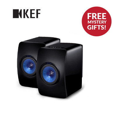 KEF LS50 Wireless Speaker With FREE KEF Muo Wireless Bluetooth Speaker & KEF Powerbank Worth $400