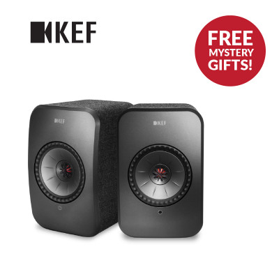 KEF LSX Wireless Speaker With FREE KEF Muo Wireless Bluetooth Speaker & KEF Powerbank Worth $400