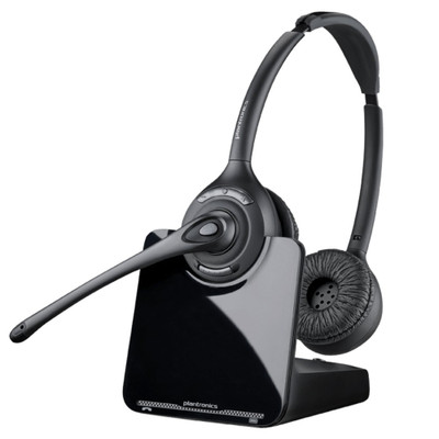 Plantronics CS520 Stereo DECT Wireless Headset System (Black)