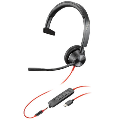 Poly Plantronics Blackwire 3315-M Teams Mono Office Headset USB-C With 3.5mm