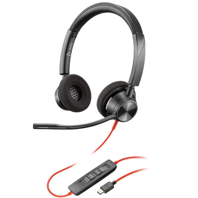 Poly Plantronics Blackwire 3320 UC Stereo Office Headset USB-C