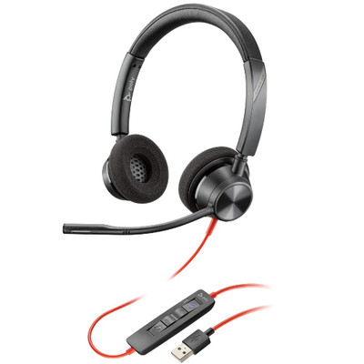 Poly Plantronics Blackwire 3320-M Teams Stereo Office Headset, USB-A