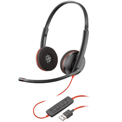 Poly Plantronics Blackwire 3220 Stereo Office Headset, USB-A