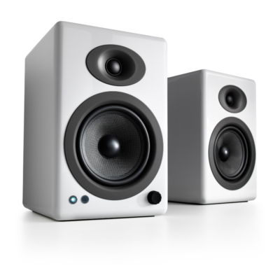 Audioengine A5+ Wireless Speaker System (Hi-Gloss White)
