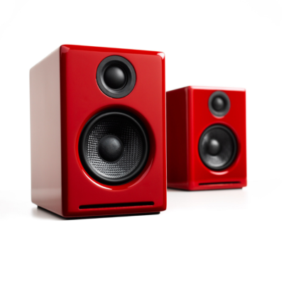 Audioengine A2+ Wireless Speaker System (Hi-Gloss Red)