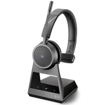 Poly Plantronics Voyager 4210 Office Mono Wireless Headset, 2 Way Base, Microsoft Teams, USB-A (Black)