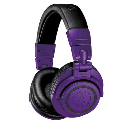 Audio-Technica ATH-M50xBT Studio Sound Wireless Over-Ear Headphones (Purple Black)