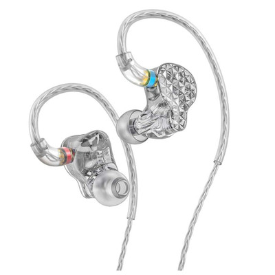 Fiio FA9 6 Knowles Balanced Armature In-Ear Monitors (Clear)