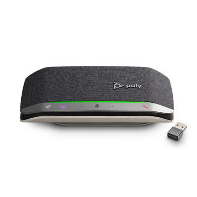 Poly Sync 20+ Smart Wireless Conference Speakerphone With BT600 Bluetooth Adapter, MS Teams, USB-A