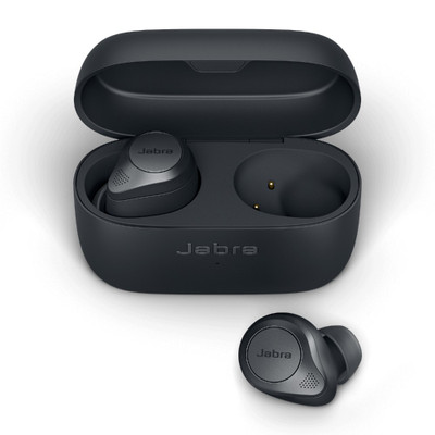 Jabra Elite 85t True Wireless Earbuds With Advanced Active Noise Cancellation And Wireless Charging Case (Grey)