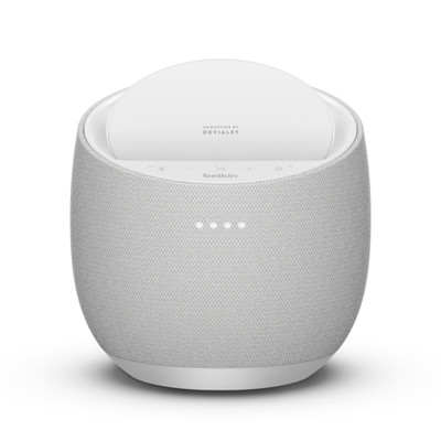 Belkin Soundform Elite Devialet Acoustics Hi-Fi Smart Speaker With Wireless Charger (White)