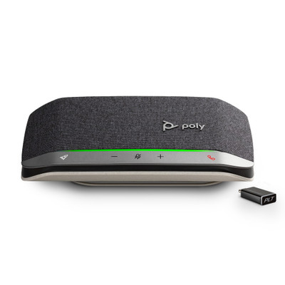 Poly Sync 20+ Smart Wireless Conference Speakerphone With BT600 Bluetooth Adapter, USB-C