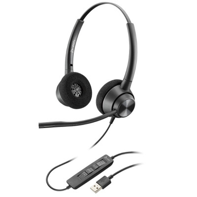 Poly Plantronics EncorePro 320 USB Stereo Headset, USB-A