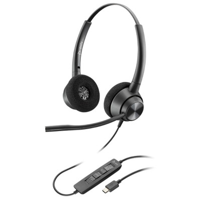 Poly Plantronics EncorePro 320 USB Stereo Headset, USB-C