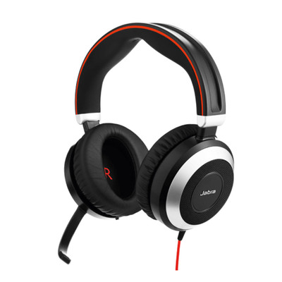 Jabra Evolve 80 MS Stereo Active Noise Cancelling Headset, USB-C, 3.5mm