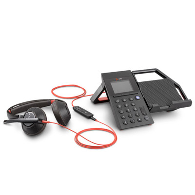 Poly Plantronics Elara 60 WS Mobile Phone Station With Speaker For Blackwire Headsets, Includes Blackwire 5220 Headset