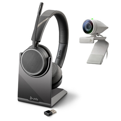 Poly Studio P5 Kit, Professional HD Webcam With Voyager 4220 Headset Bundle