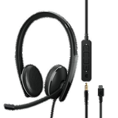 EPOS Sennheiser Adapt 165 USB-C II Stereo Headset, USB-C, 3.5mm