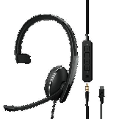 EPOS Sennheiser Adapt 135 USB-C II Mono UC Optimized Headset, USB-C, 3.5mm
