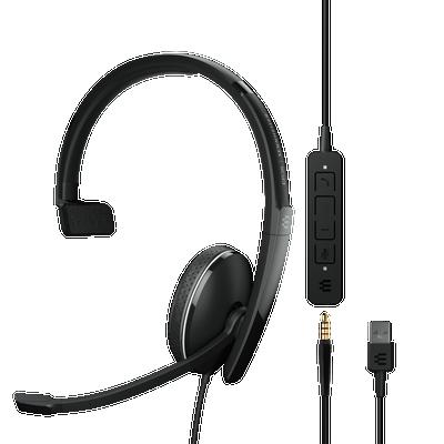 EPOS Sennheiser Adapt 135 USB-A II Mono UC Optimized Headset, USB-A, 3.5mm