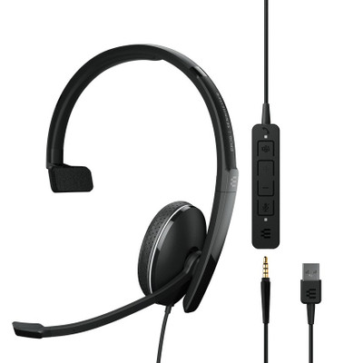 EPOS Sennheiser Adapt 135T USB-A II Mono MS Teams Certified Headset, USB-A, 3.5mm