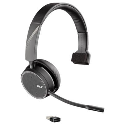 Poly Plantronics Voyager 4210 UC Mono Wireless Headset, MS Teams, USB-A