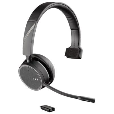 Poly Plantronics Voyager 4210 UC Mono Wireless Headset, MS Teams, USB-C