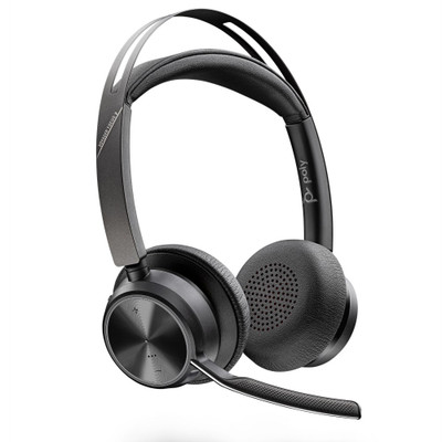 Poly Plantronics Voyager Focus 2 UC Wireless Headset With Active Noise Cancellation, USB-A