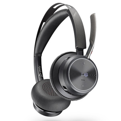 Poly Plantronics Voyager Focus 2 UC Wireless Headset With Active Noise Cancellation, MS Teams, USB-C
