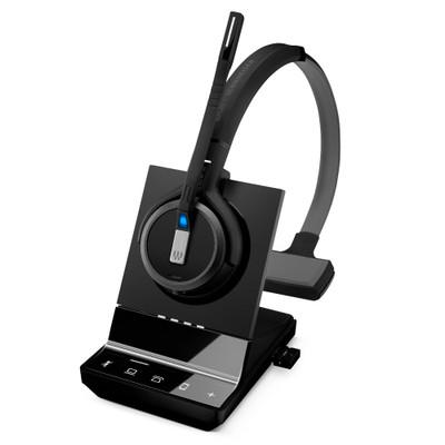 EPOS Sennheiser Impact SDW 5036, Mono Wireless DECT Headset, Triple Connectivity - Deskphone, Softphone, Mobile, With USB Dongle