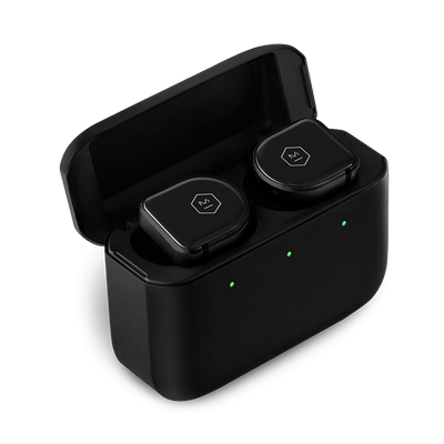 Master & Dynamic MW08 Active Noise-Cancelling True Wireless Earbuds (Black Ceramic / Matte Black Case)