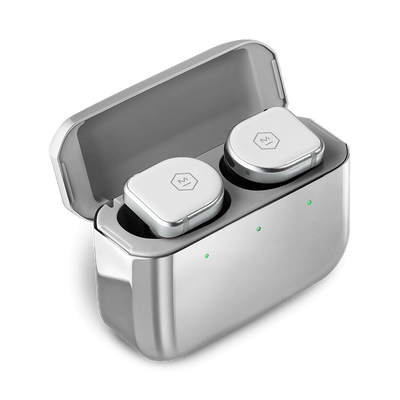 Master & Dynamic MW08 Active Noise-Cancelling True Wireless Earbuds (White Ceramic / Stainless Steel Case)