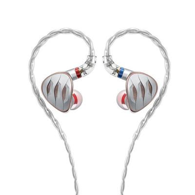 Fiio FH5s 2 Balanced Armature Drivers 2 Dynamic Drivers In-Ear Monitors (Silver)