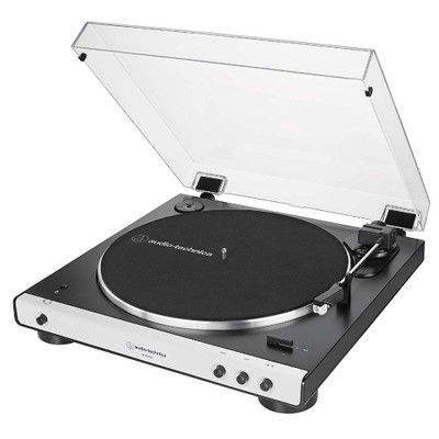 Audio-Technica AT-LP60X BT Fully Automatic Wireless Belt Drive Turntable, Bluetooth (White)
