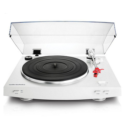Audio-Technica AT-LP3 Fully Automatic Belt Drive Stereo Turntable (White)
