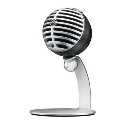 Shure MV5 Digital Condenser Microphone, Cardioid, USB-A (Grey)