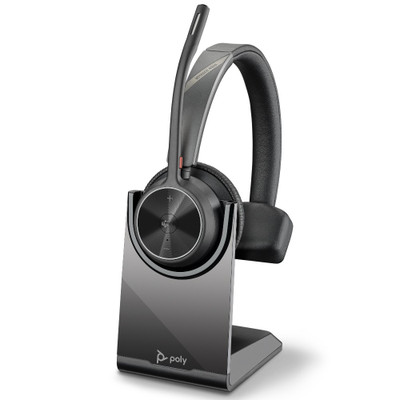 Poly Plantronics Voyager 4310 UC Mono Wireless Headset, With Charging Stand, MS Teams, USB-A