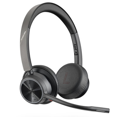 Poly Plantronics Voyager 4320 UC Stereo Wireless Headset, MS Teams, USB-C